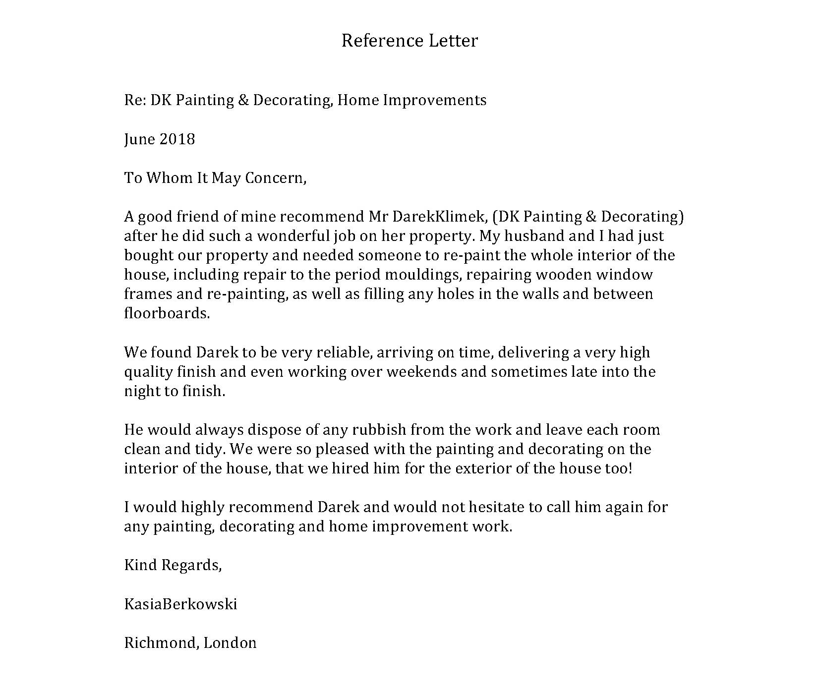 Reference Letter from KasiaBerkowski